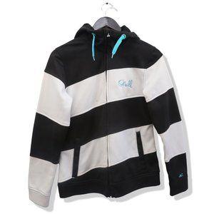 O'NEILL Full Zip Striped Drawstring Sweater Hoodie